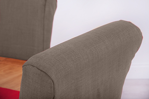 Amazing Details About 1 X Slate Grey Fabric Dining Chair Covers For Scroll Top High Back Leather Machost Co Dining Chair Design Ideas Machostcouk