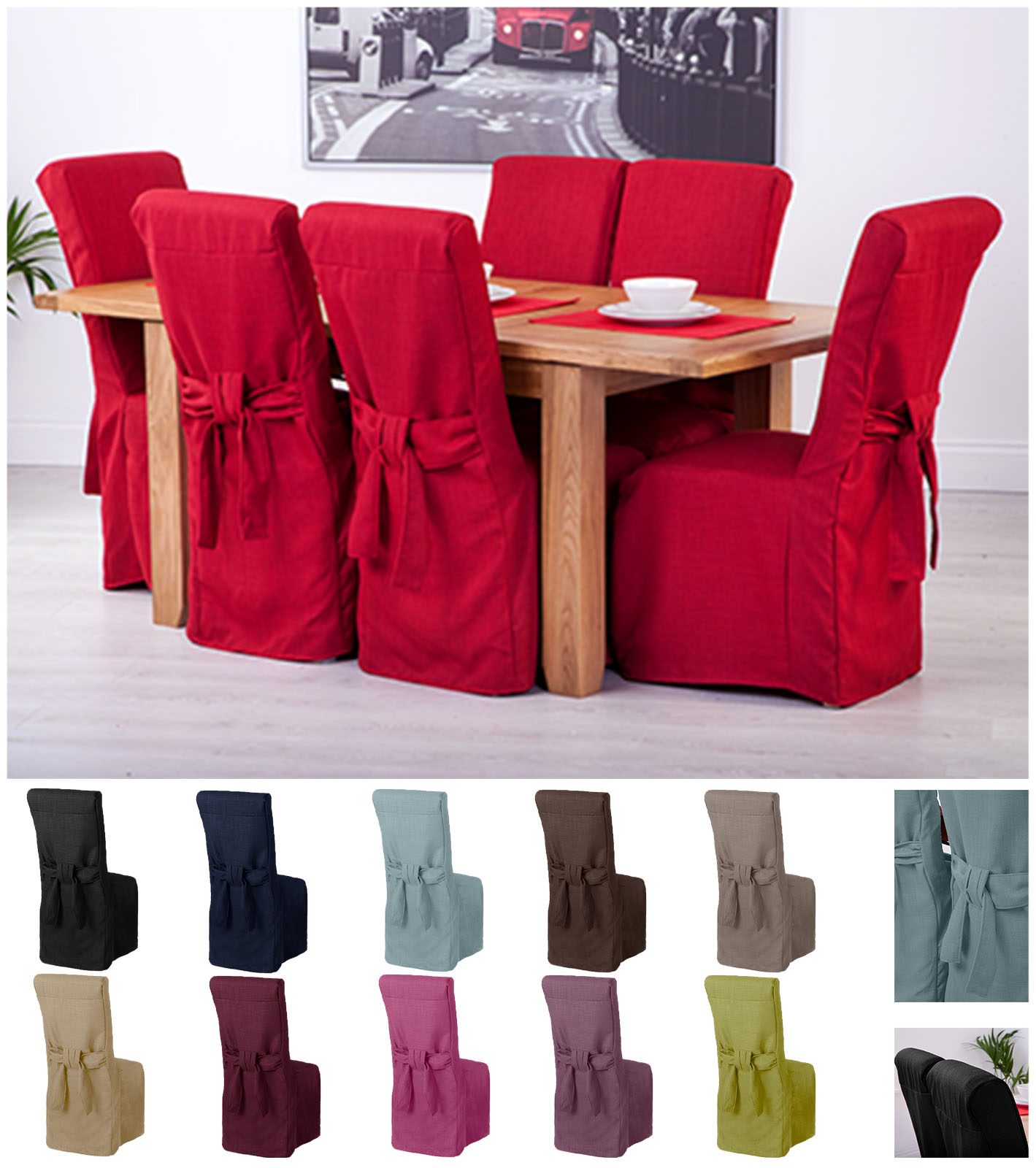 Superieur Fabric Slipcovers For Scroll Top High Back Leather Oak Dining Chairs Seat  Covers