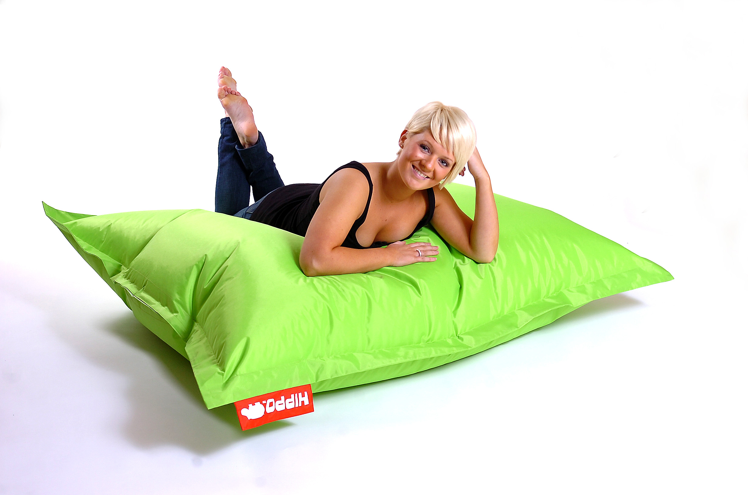Lime Hippo XXL Adult Bean Bag Water Resistant Beanbag Lounger