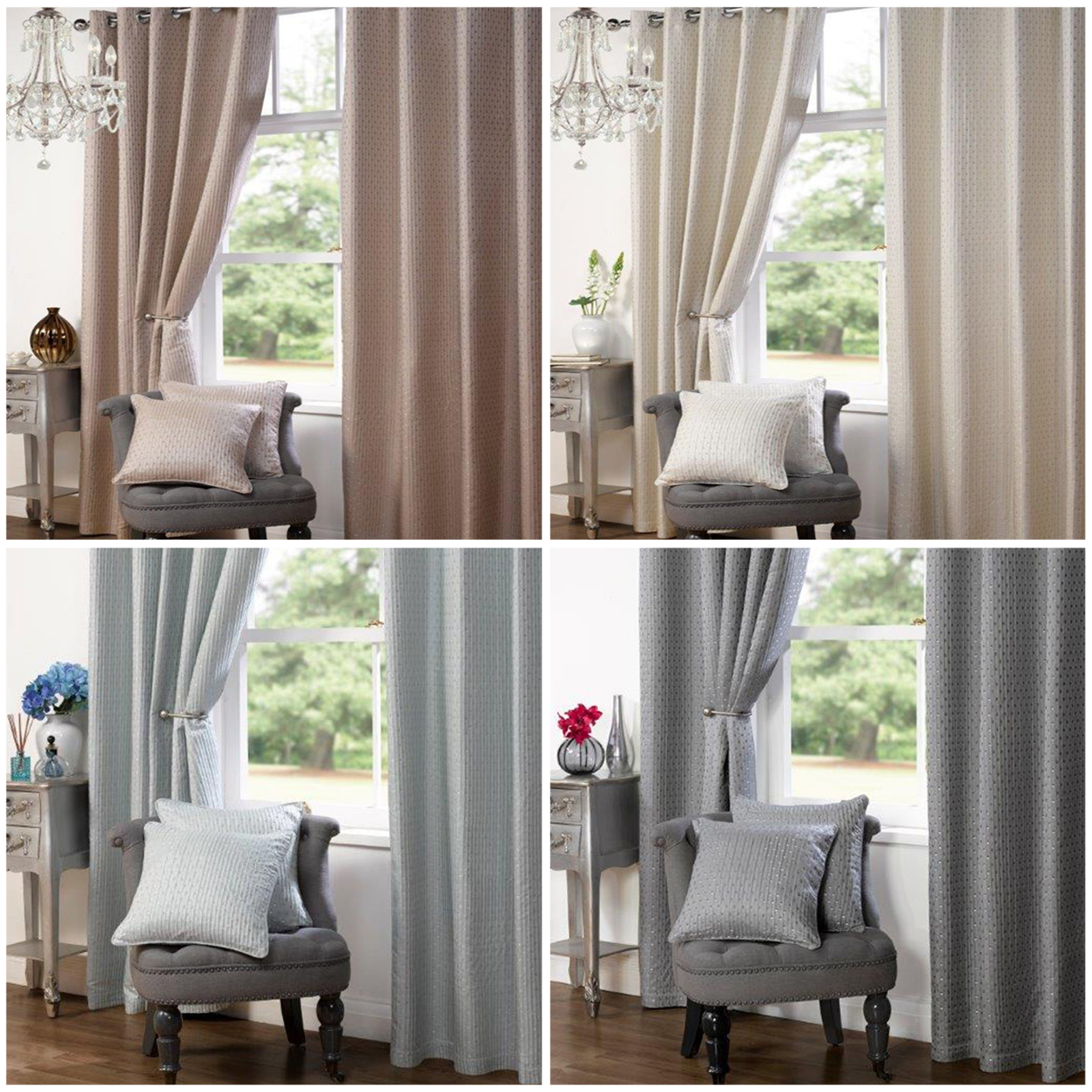 shop satin curtains blue stag white organza sheer with waves