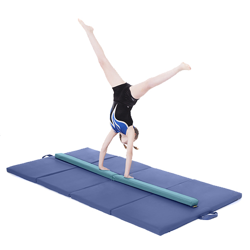 8ft-Gymnastics-Folding-Balance-Beam-2-4M-Hard-Wearing-Faux-Leather-Gym-Training