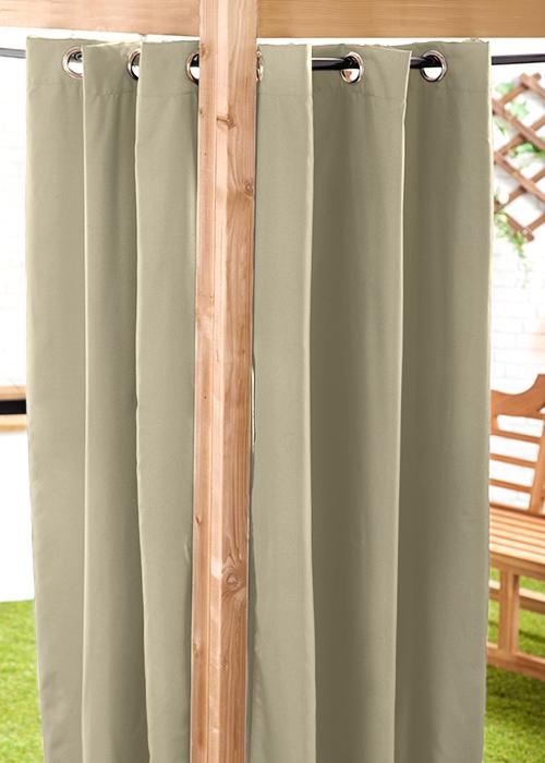 Outdoor Curtain Part - 33: Waterproof-Outdoor-Curtain-Eyelet-Panel-55-034-Garden-
