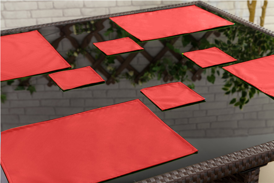 Outdoor Waterproof Garden Dining Table Cloths Place Mats