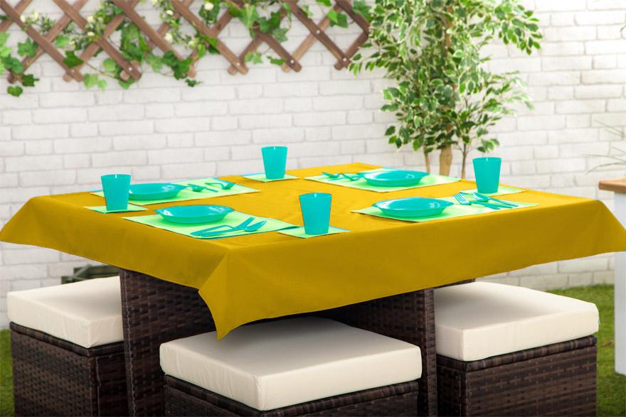 Drau en wasserdicht garten esstisch t cher platzsetzs for Esstisch yellow