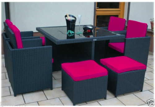 Pink Garden Furniture Pink 12pc cushions set only for 8 seater rattan garden furniture images workwithnaturefo
