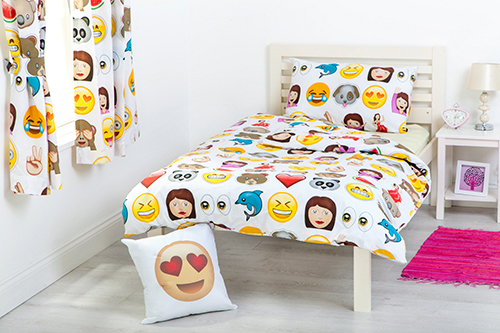 Emoji Emoticons Cotbed Junior Duvet Cover Set Childrens