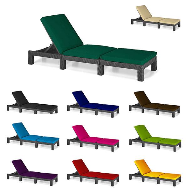 Turquoise Coussin pour s/'adapter Keter ALLIBERT DAYTONA chaise longue mobilier de jardin