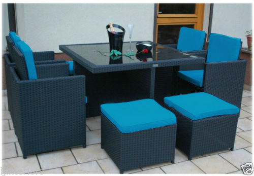Replacement 12pc Cushion Set To Fit 8 Seater Rattan Garden
