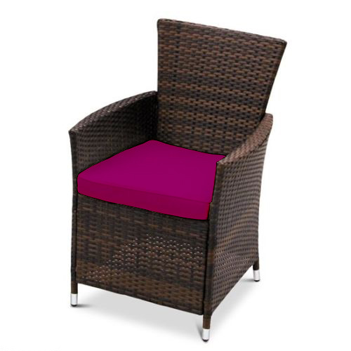 Pink Replacement Dining Chair Cushion To Fit Rattan Wicker Garden Furniture About This Product Picture 1 Of 6 2