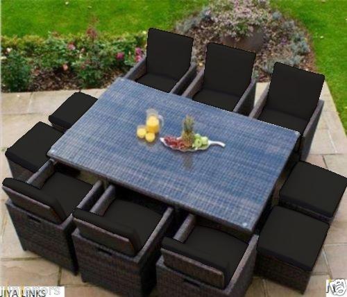 10 Seater Garden Furniture Black 16 piece cushion set for 10 seater rattan garden furniture images workwithnaturefo