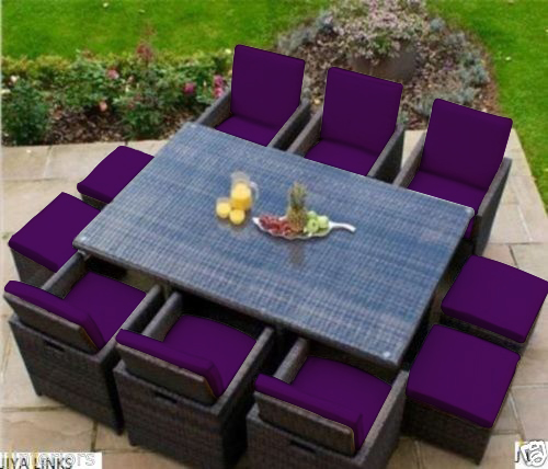 Replacement 16pc Cushion Set For 10 Seater Rattan
