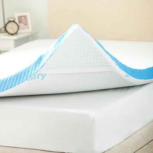 Gelify-Elasticated-Cover-Orthopaedic-Gel-Feel-Foam-Mattress-Bed-Topper thumbnail 3