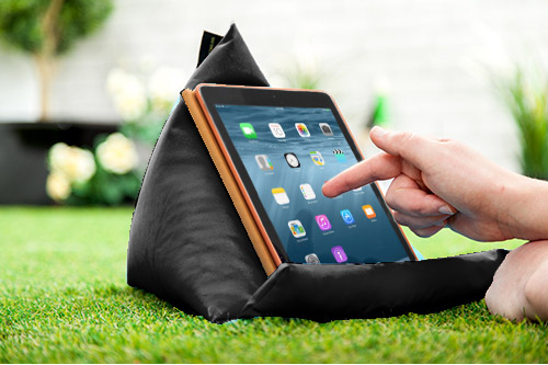 Black Tablet Book Rest Cushion Bean Bag Pillow Stand Ipad