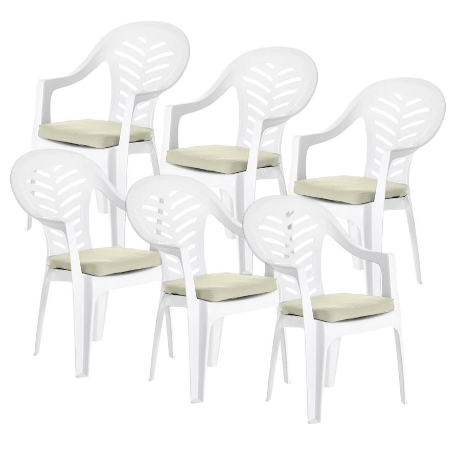 Lot de 4 pierre coussin patins pour resol palma//cool plastique chaises de jardin