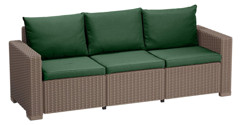 Polsterkissen für Keter Allibert California Rattan Gartenmöbel Sofa ...