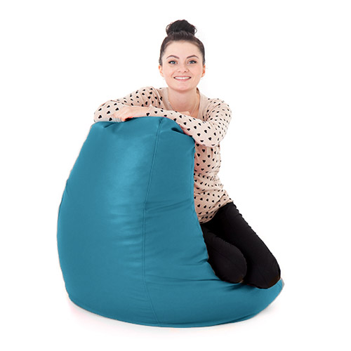 Turquoise Faux Leather Adult Bean Bag Gaming Chair Gamer