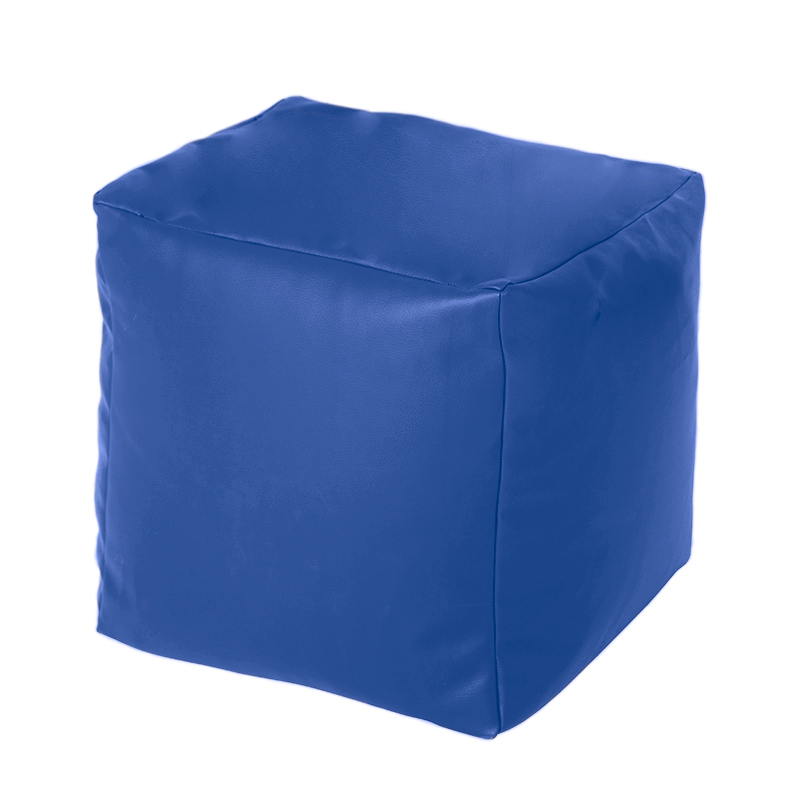 Faux Leather Cube Bean Bag Pouffe Foot Stool Beanbag