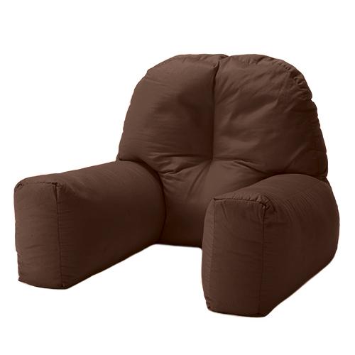 Brown Cotton Chloe Bed Reading Pillow Bean Bag Cushion Arm ...