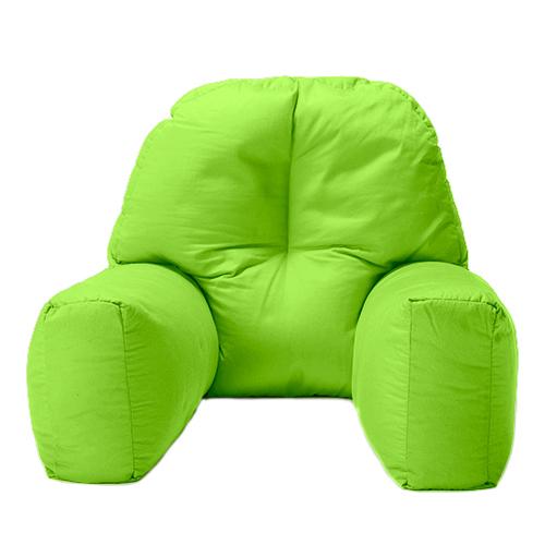 Lime Cotton Chloe Bed Reading Pillow Bean Bag Cushion Arm ...
