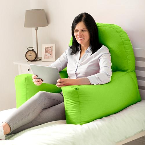 Bed Reading Pillow Bean Bag Cushion Arm