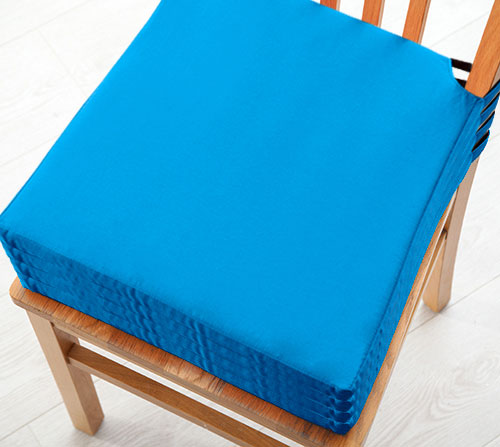 Turquoise 4 Pack Seat Pad Cushions Velcro Fastening Dining Kitchen Chairs Soft