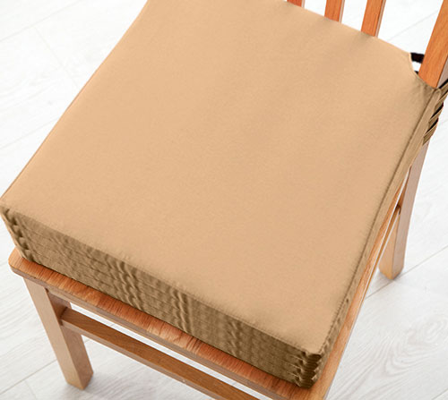 Kitchen Bench With Cushion: Seat Pad Cushions With Velcro Fastening Dining Kitchen Chairs Soft Cotton Twill