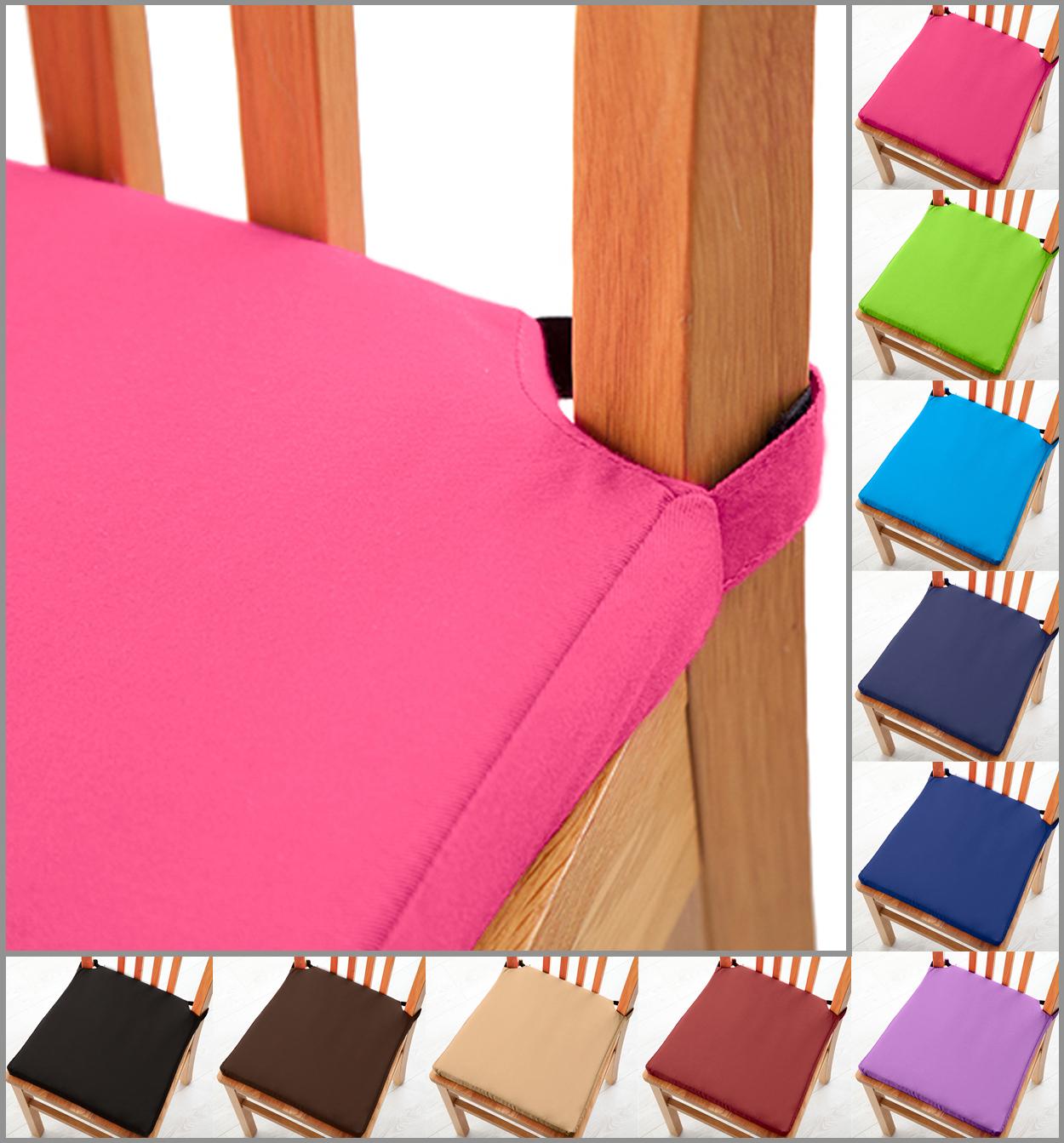 Sitzpolster Kissen mit Klettverschluss Essküche Stühle Weich ...