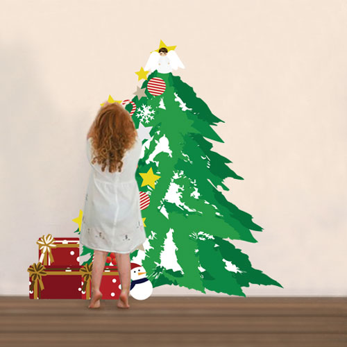 Christmas Tree Decorating Wall Sticker Kit Complete With Decorations U0026  Presents Part 57