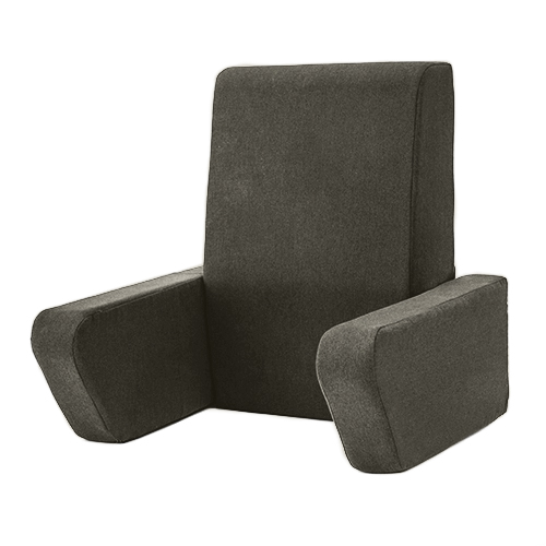 una wool feel bed reading foam cushion fold away back support pillow arm rest tv ebay. Black Bedroom Furniture Sets. Home Design Ideas