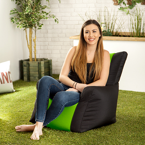 Lime Layla Gaming Bean Bag Gamer Arm Chair Seat Indoor