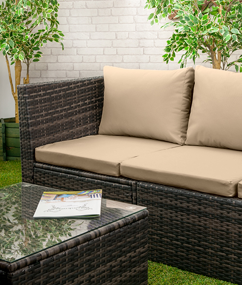 Rattan Furniture Replacement Cushions Sofa Water Resistant