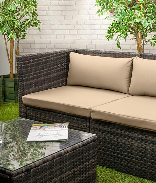 rattan m bel ersatz kissen sofa wasserfest garten abdeckungen polster ebay. Black Bedroom Furniture Sets. Home Design Ideas