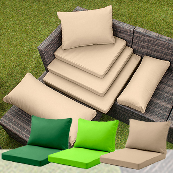 Details about Rattan Furniture Replacement Cushions Sofa Water Resistant  Garden Covers Pads