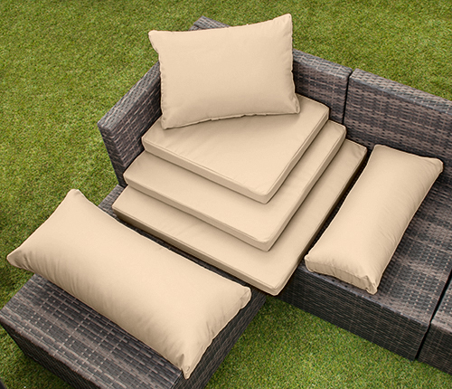 rattan m bel ersatz kissen sofa wasserfest garten abdeckungen polster ebay. Black Bedroom Furniture Sets. Home Design Ideas