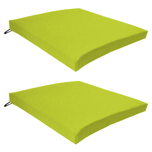 lime 2 pack seat chair cushion outdoor garden tie on waterproof pad