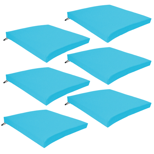 Super Details About Turquoise 6 Pack Seat Chair Cushion Outdoor Garden Tie Waterproof Pad Zip Cover Cjindustries Chair Design For Home Cjindustriesco