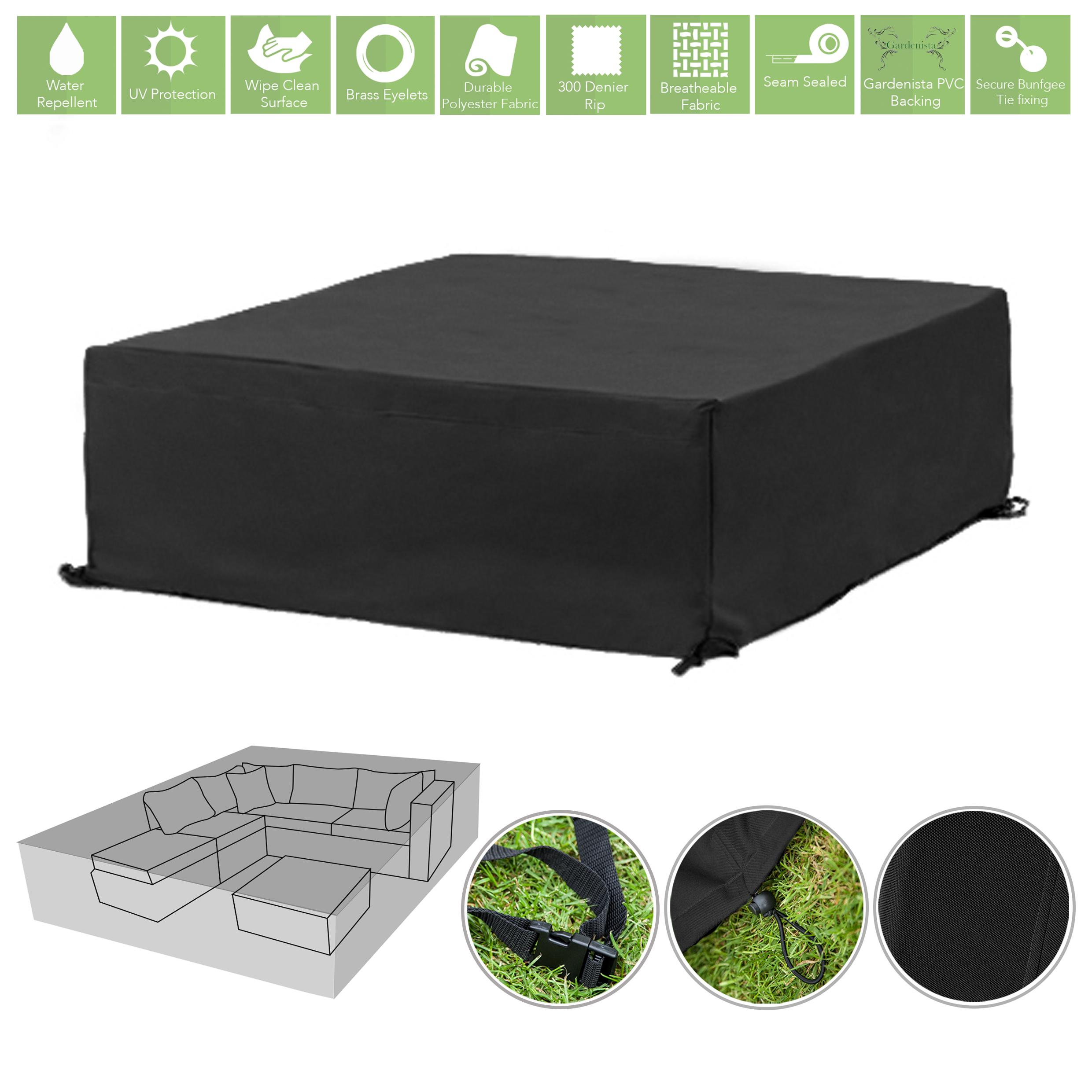 black 10 seater cube outdoor waterproof garden patio furniture cover rh ebay co uk Antique Furniture Antique Furniture