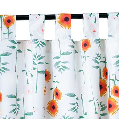 Outdoor Waterproof Printed Tab Top Curtains Garden D 233 Cor