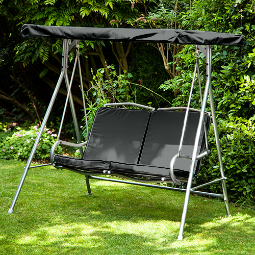 Black Replacement 2 Seater Canopy For Argos Malibu 2 Seater Garden