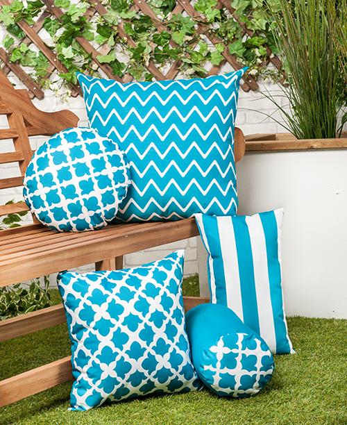 Round Bolster Pillow Outdoor Water Resistant Garden