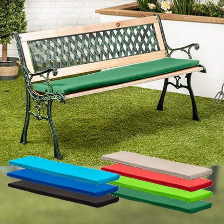 Water Resistant Cushion Pad For Small 2 Seater Metal Bench Garden Outdoor Ebay