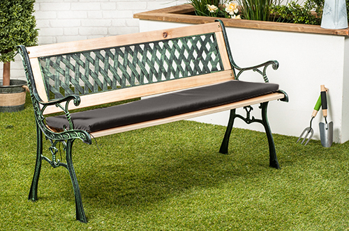 Water Resistant Cushion Pad For Small 2 Seater Metal Bench