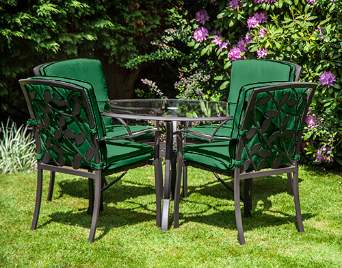 Replacement Cushion For Homebase Lucca Metal Garden Patio Dining Chairs Outdoor Ebay