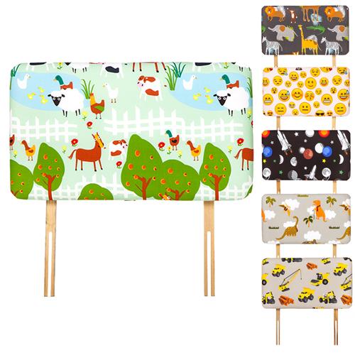 enfants dessin imprim taille lit simple tissu t te de divan gar ons filles ebay. Black Bedroom Furniture Sets. Home Design Ideas