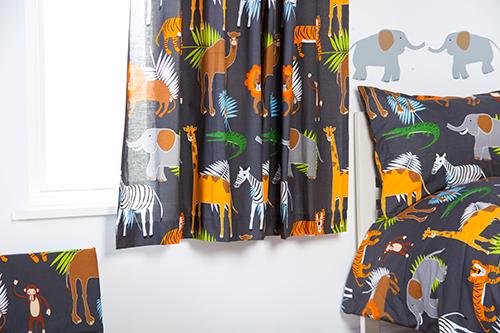 Childrens Nursery Bedroom Curtains Amp Tiebacks Pencil Pleat