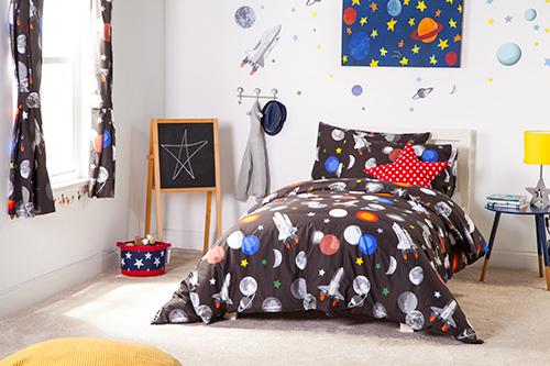 Tie Top Curtains South Africa: Childrens Nursery Bedroom Curtains & Tiebacks Pencil Pleat