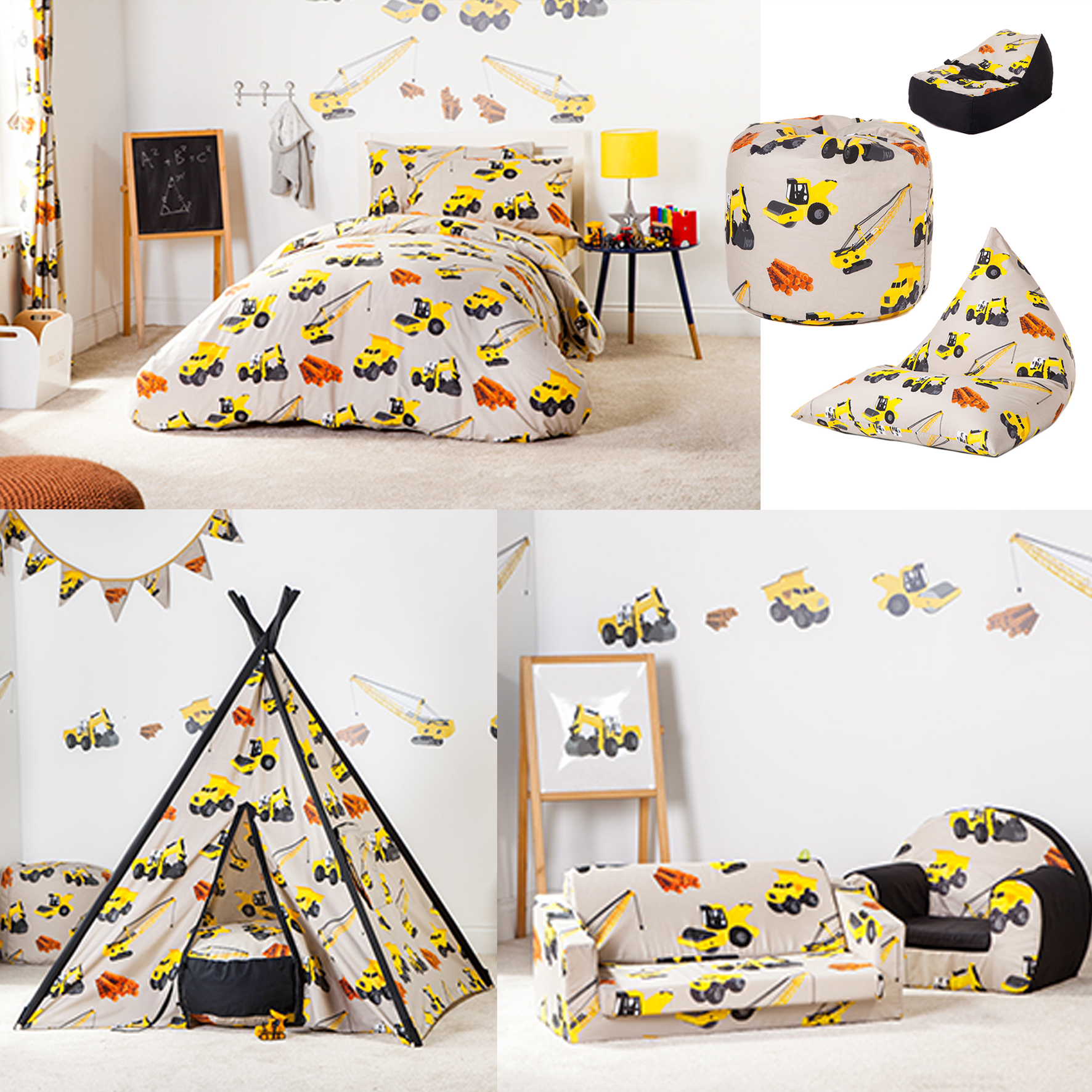 gr ber design kinder bettw sche schlafzimmer m bel sammlung kindergarten ebay. Black Bedroom Furniture Sets. Home Design Ideas