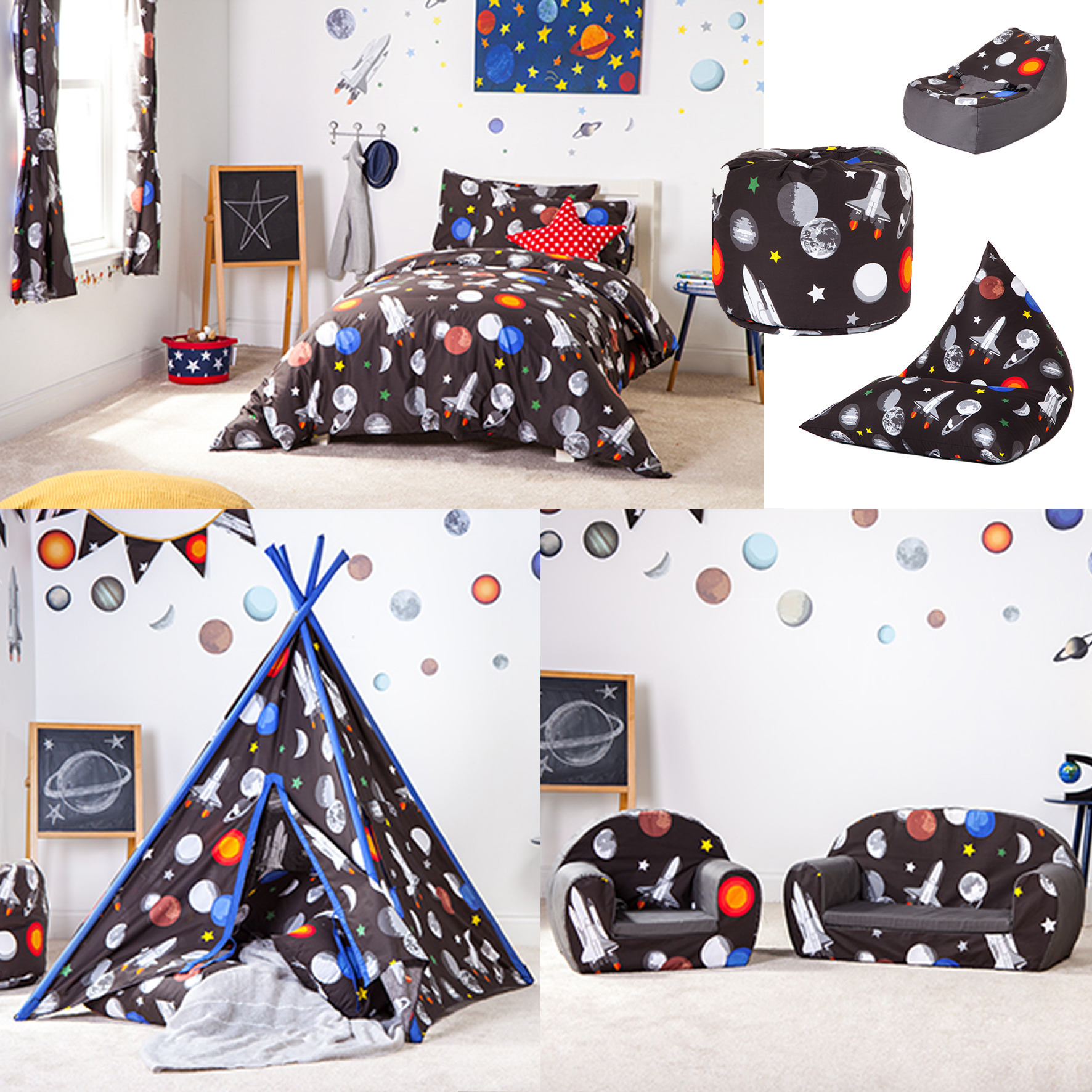 galaxy design children s bedding bedroom furniture 11631 | pkaimspace