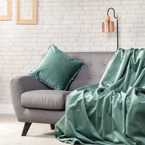 Details About Plush Velvet Soft Throw Over Sofa Protector Bed Spread Furniture Cover One Sided