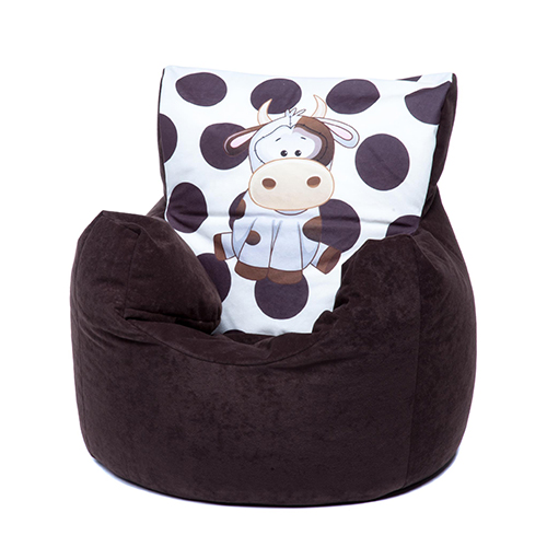 Brown Cow Childrens Character Filled Beanbag Kids Bean Bag Chair